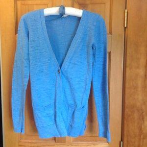 Mossimo for Target blue slub knit Cardigan